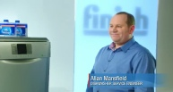 Allan Mansfield of AM Appliances explains to Carol Smillie why it is important to use a Finish Dishwasher Cleaner every month, Click to view the TV Advert